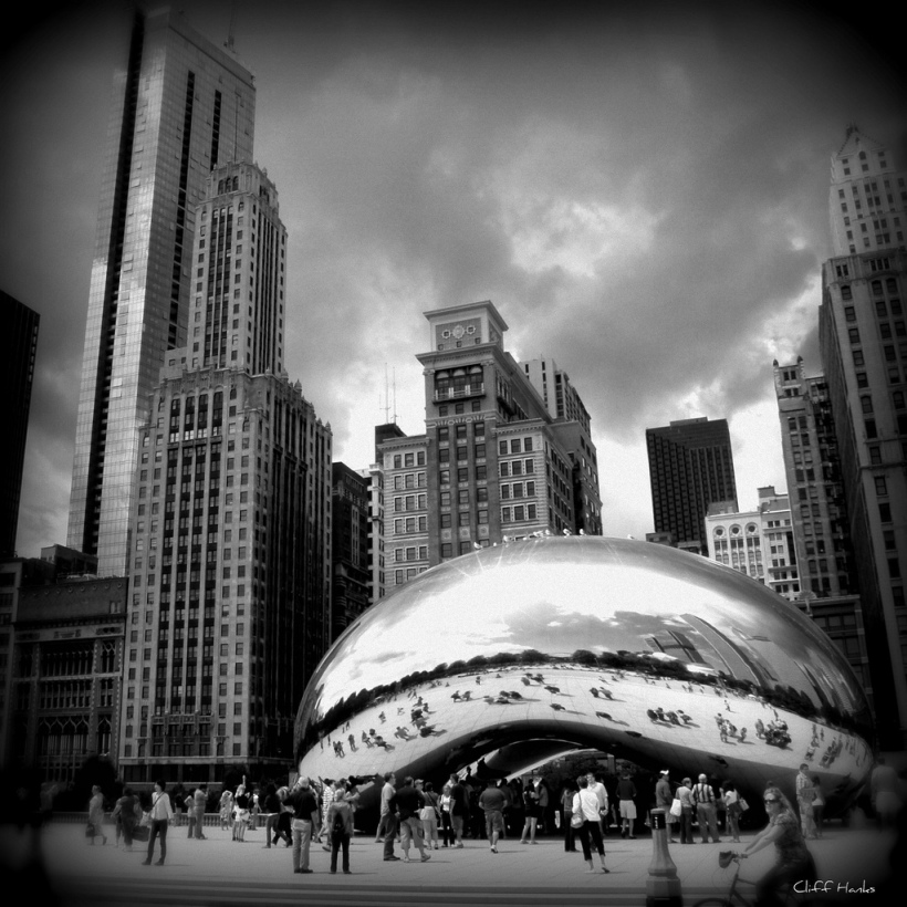 Millennium Park in Black and White
